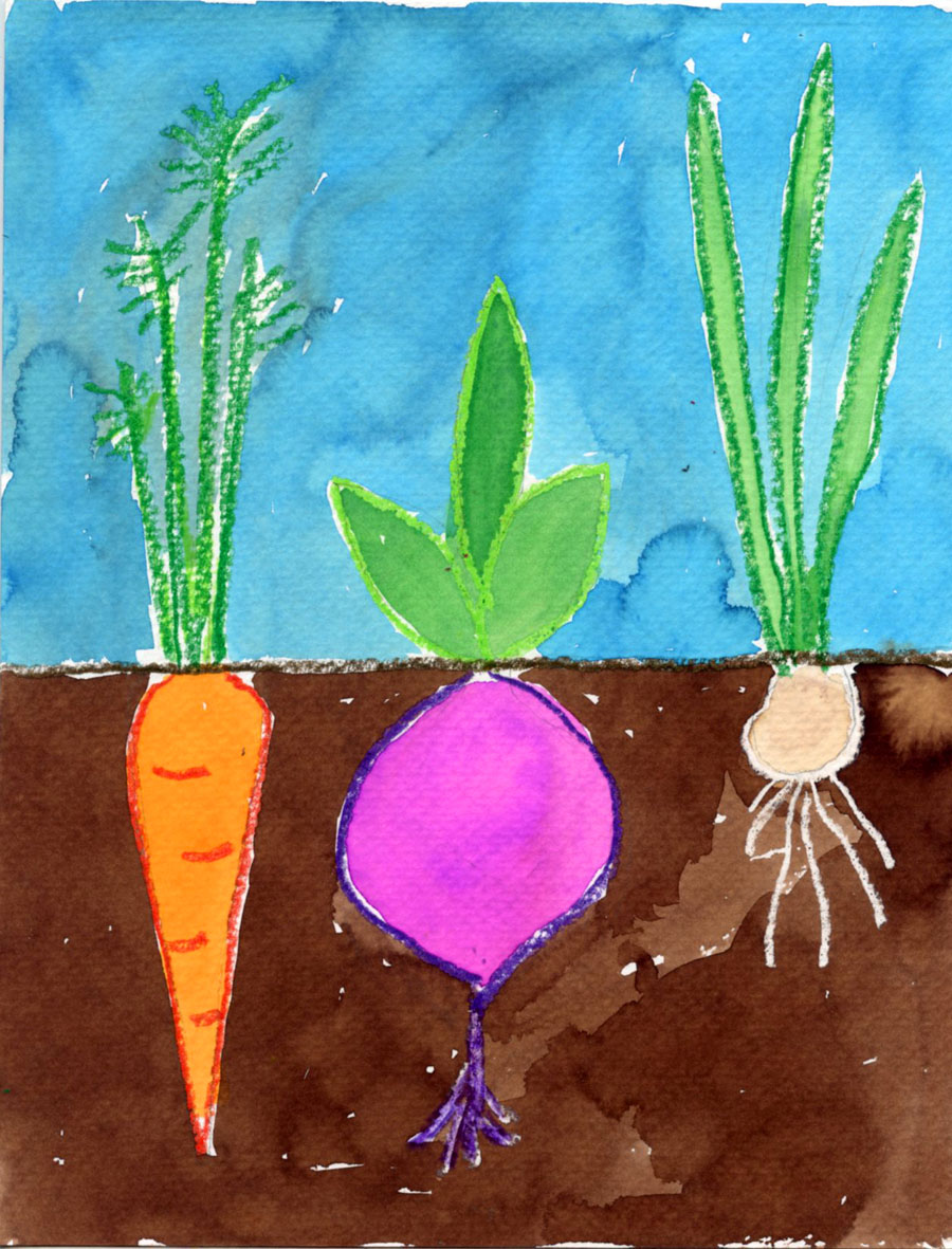 How to Paint Vegetables · Art Projects for Kids