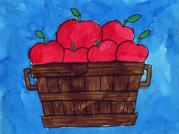 Draw A Bushel Of Apples Art Projects For Kids