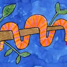 Snake drawing for kid
