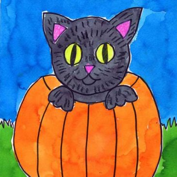 Halloween Cat Painting