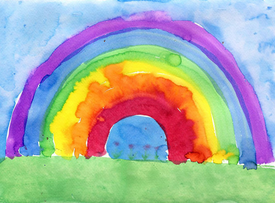 Rainbow watercolor painting art projects for kids for Watercolor painting and projects