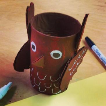 Paper Mache Owl
