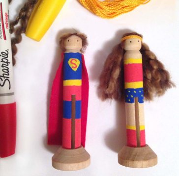 Super Hero Clothes Pin Dolls