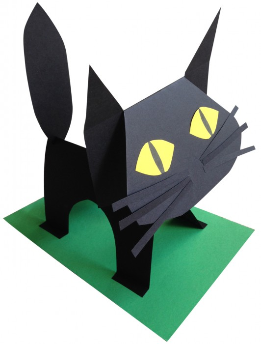 how to make a cat out of paper