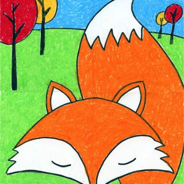 cute fox drawing
