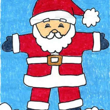 santa claus drawing easy