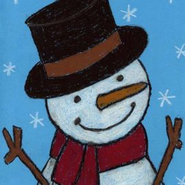 cute snowman drawing