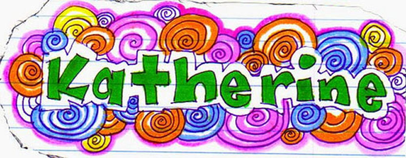 How to doodle your name art projects for kids for How to doodle names