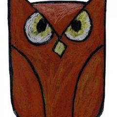 simple owl drawing