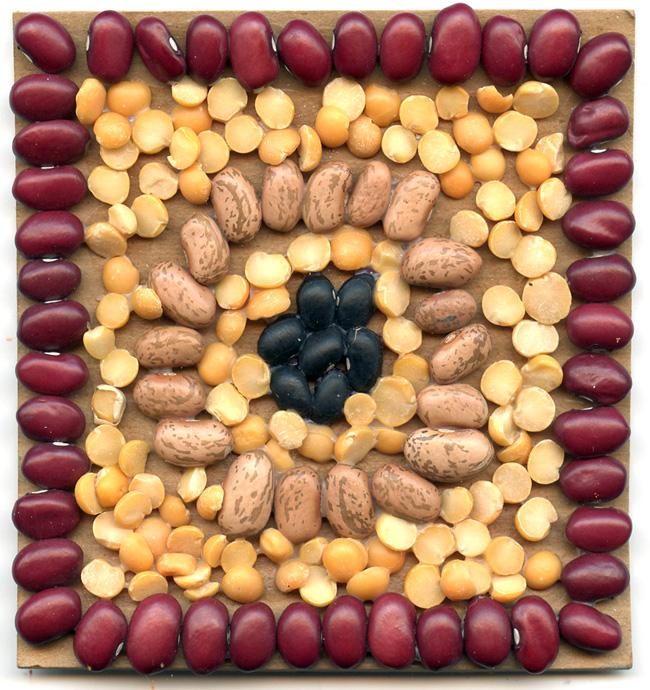 mosaic bean art