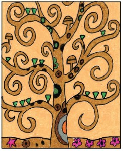 Draw Klimt Tree
