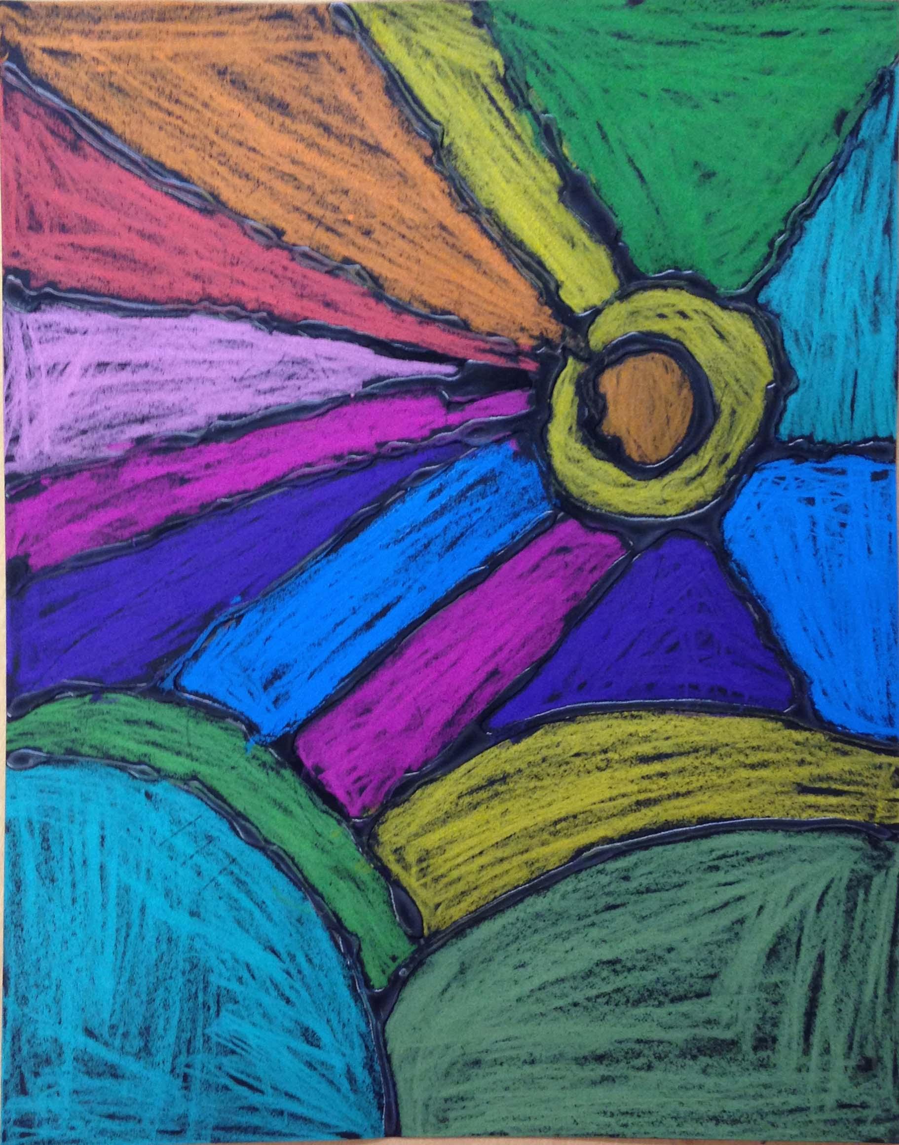 Color Stick Landscape - Art Projects for Kids