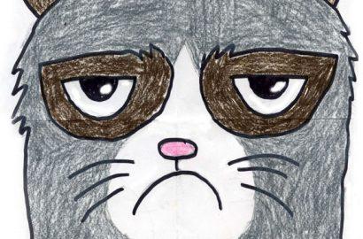 How to draw Grumpy Cat
