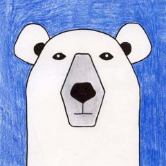 polar bear drawing step by step