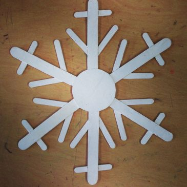 Giant Popsicle Stick Snowflake