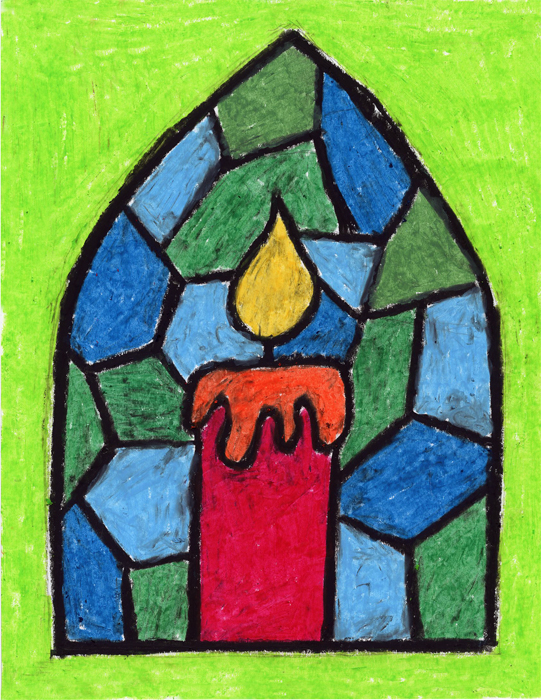 Stained Glass Candle - Art Projects for Kids