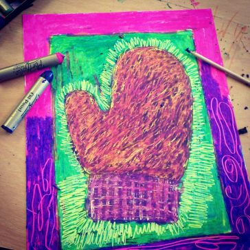 Scratch Art with Oil Pastels