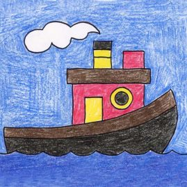 How to draw a tugboat
