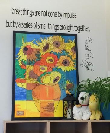 Sunflower Mural from Orangevale, CA
