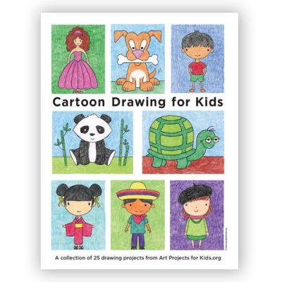 easy cartoon drawing kids