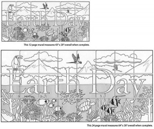 Tropical Earth Day collaborative art project diagram