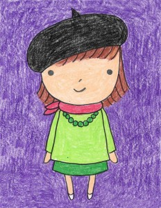 little girl drawing easy