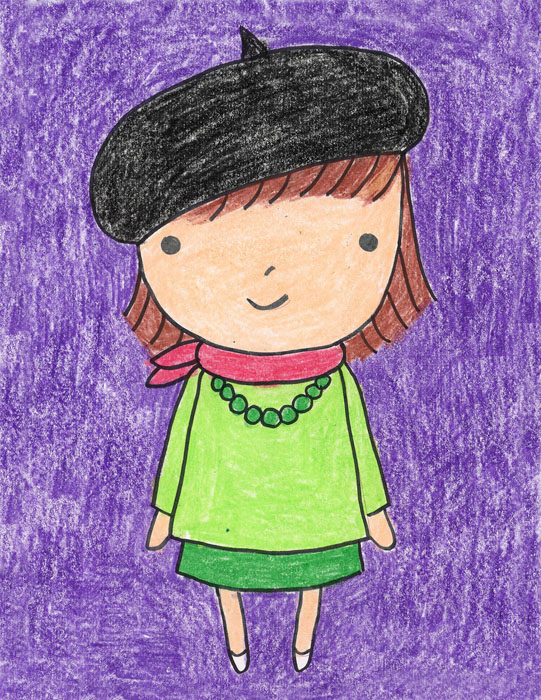 little girl drawing easy
