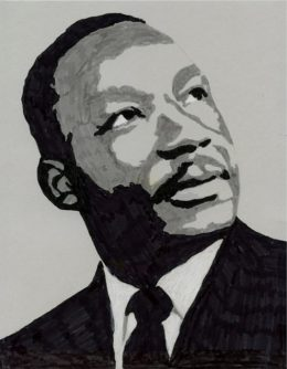 MLK Coloring Page