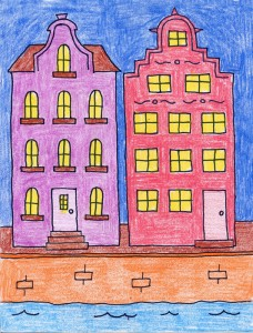 building drawing for kids