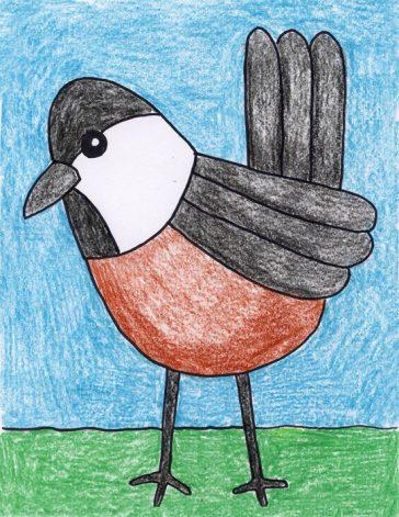 Draw a Chickadee