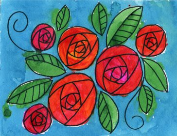 Doodle roses