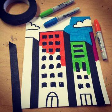 Tape and Sharpie Skyline