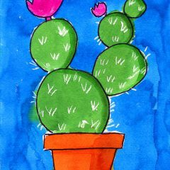 simple cactus drawing