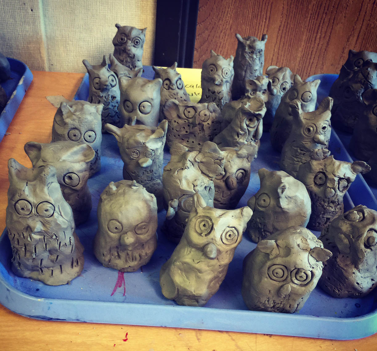 clay owls by 1st graders   art projects for kids