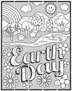 easy earth day collaborative art project diagram