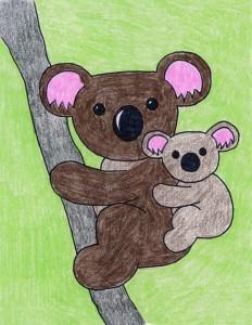 How to draw a koala bear
