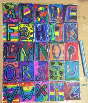 Sharpie Marker Alphabet
