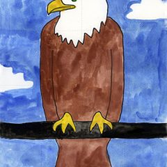 draw bald eagle