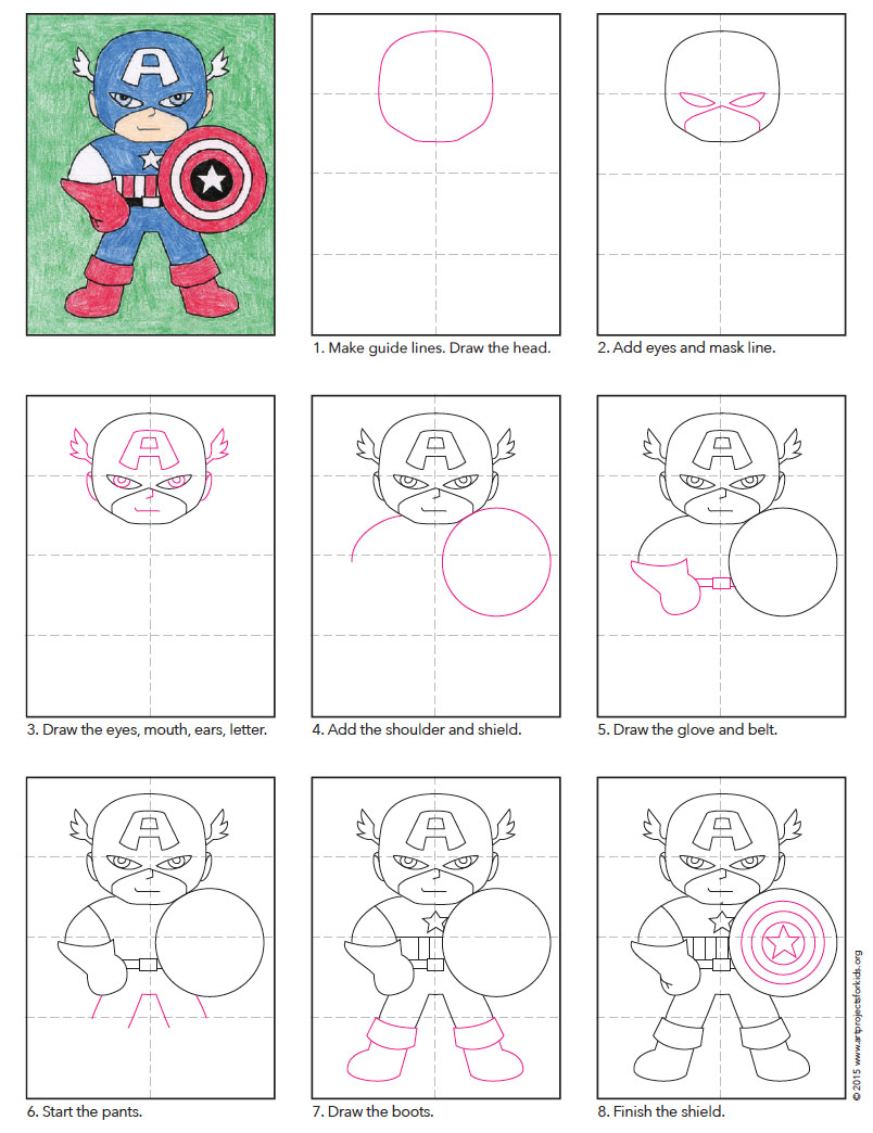 Captain America Art Projects For Kids