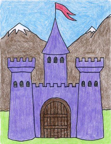 Draw a Midieval Castle