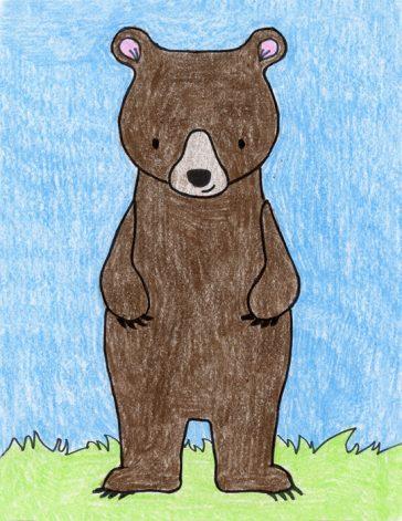 Draw a Standing Bear