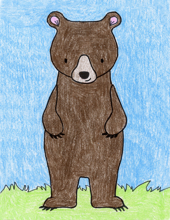 bear drawing easy