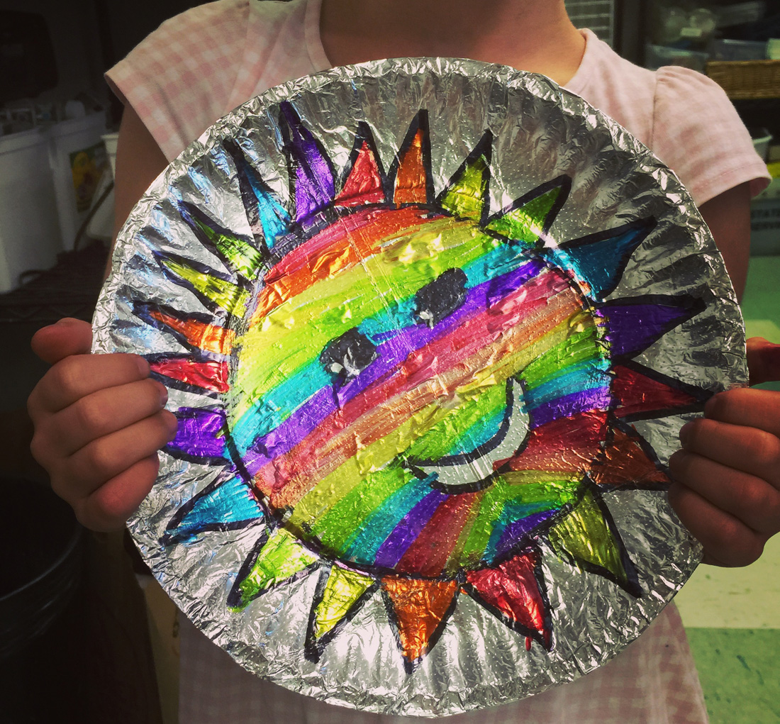 Foil and sharpie sun art projects for kids for Cool art ideas for kids