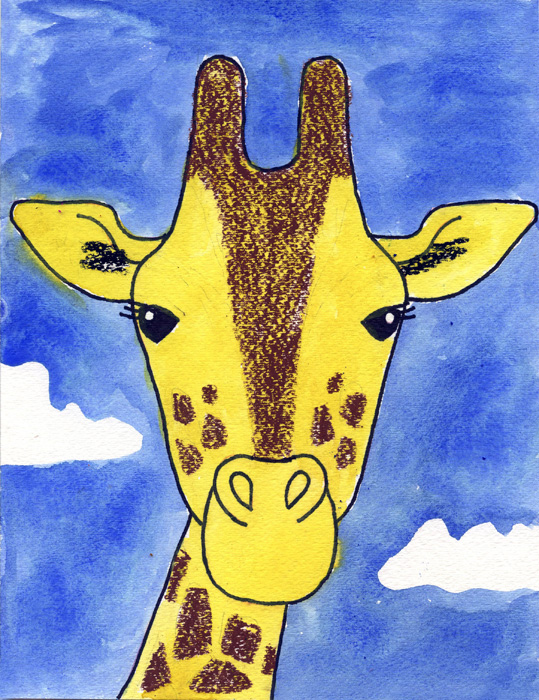 giraffe face 700 how to draw