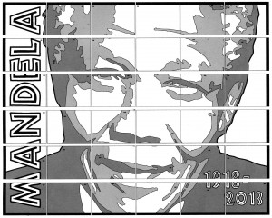 Nelson Mandela collaborative art project diagram