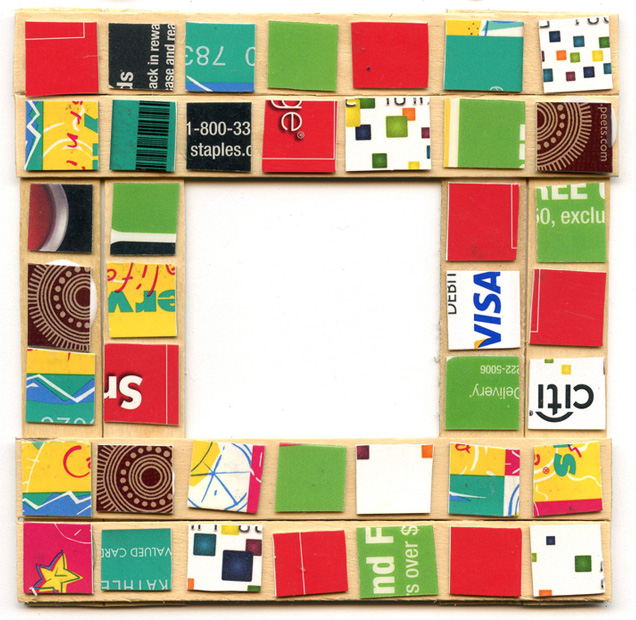 Gift Card Mosaic - Art Projects for Kids