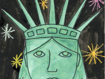 Draw the Statue of Liberty's Face