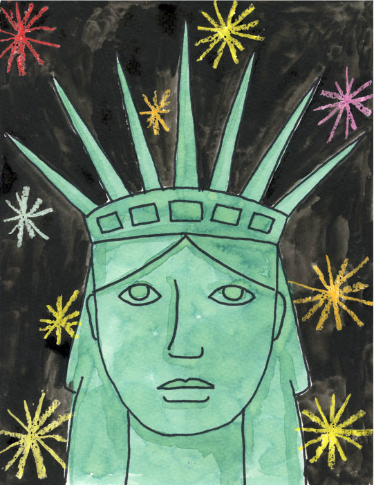 how to draw the statue of liberty art projects for kids