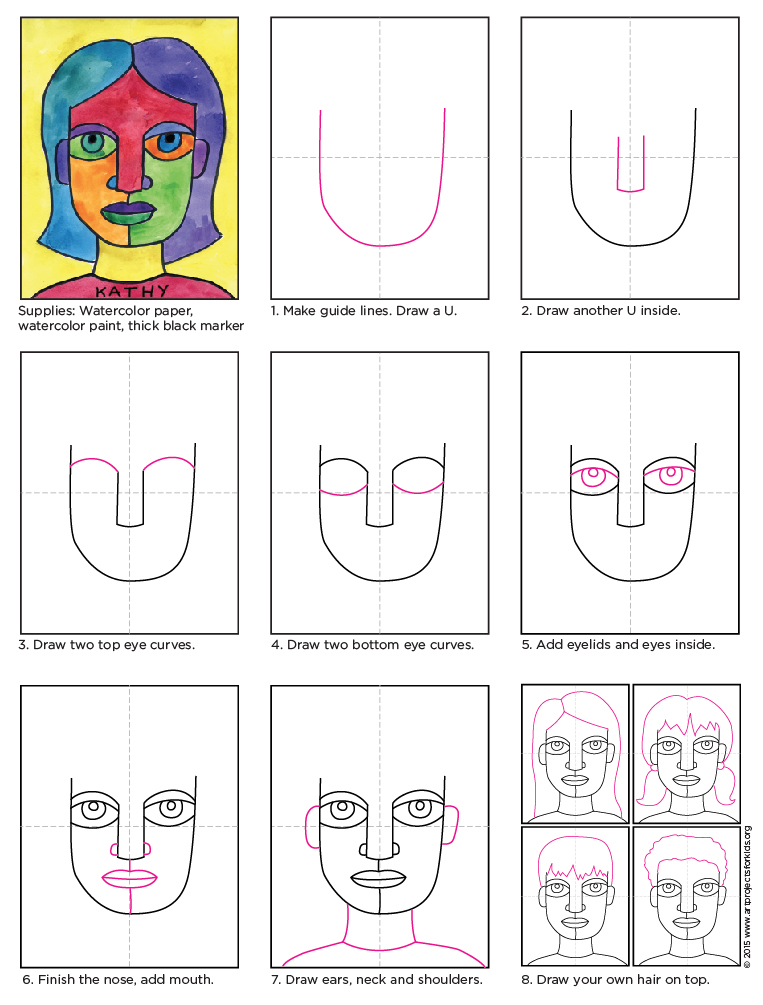Draw an abstract self portrait art projects for kids abstract self portrait abstract self portrait diagram ccuart Choice Image