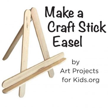 Craft Stick Easel Tutorial